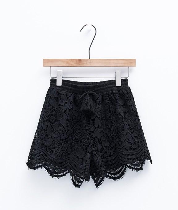 BOHO CHIC蕾絲綁帶流蘇短褲