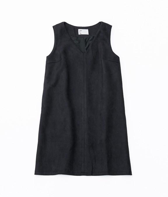 微甜感麂皮背心洋裝