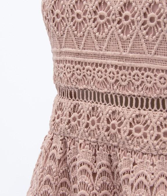 氣質腰簍空蕾絲洋裝