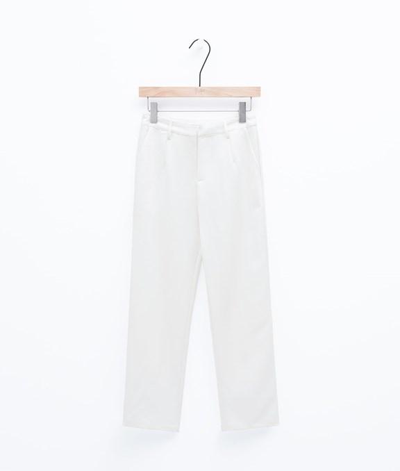都會極簡修身西裝直筒褲