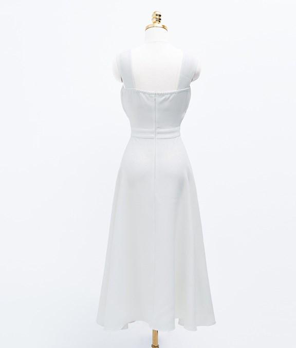 微性感簍空腰結背心洋裝