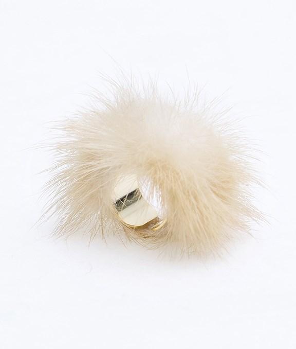 韓國CHIC繞毛茸茸戒指