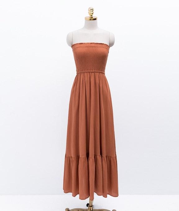 夏日小荷葉邊平口洋裝