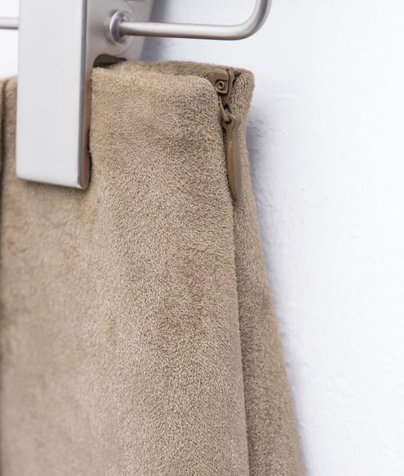 氣質麂皮開岔長裙