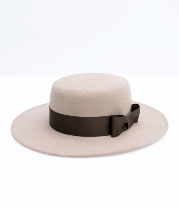 韓國毛呢大帽沿紳士帽