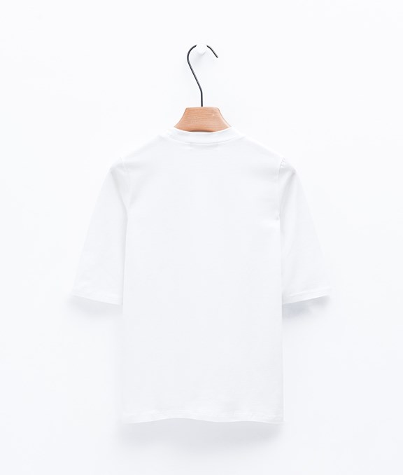 MIT 舒適百搭小高領五分袖棉質上衣