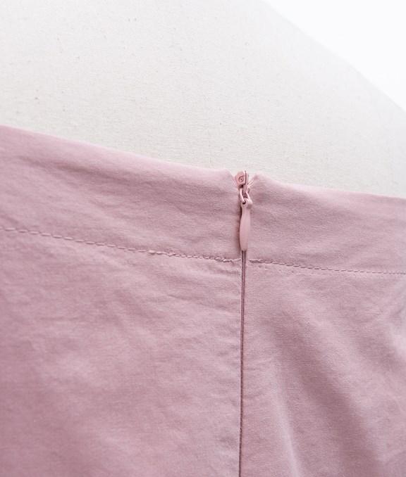 甜美一字領泡泡袖洋裝
