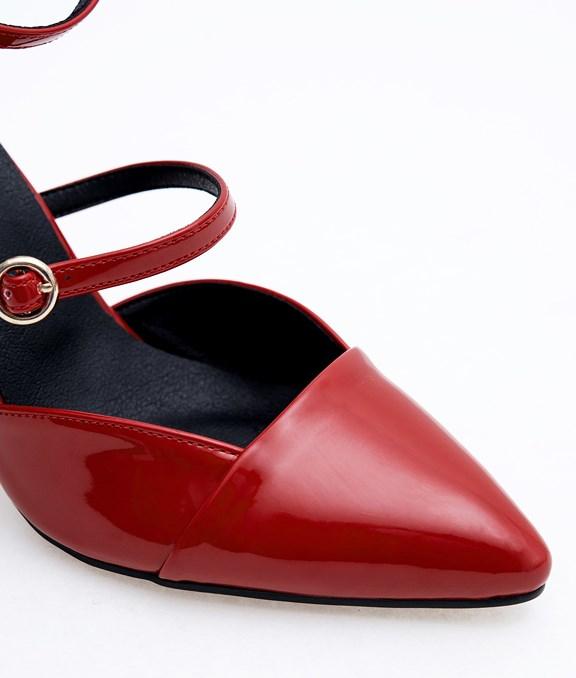 韓國率性漆皮羅馬高跟鞋