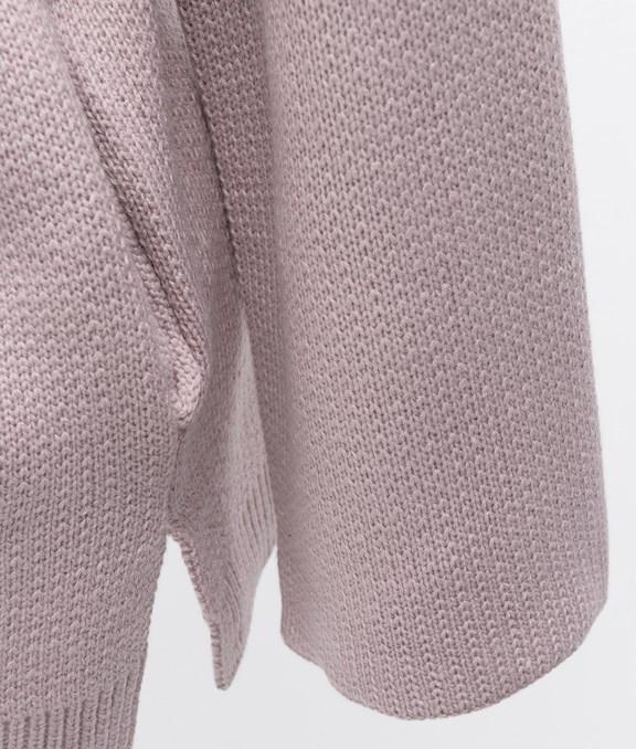 寬鬆喇叭袖綁帶針織外套