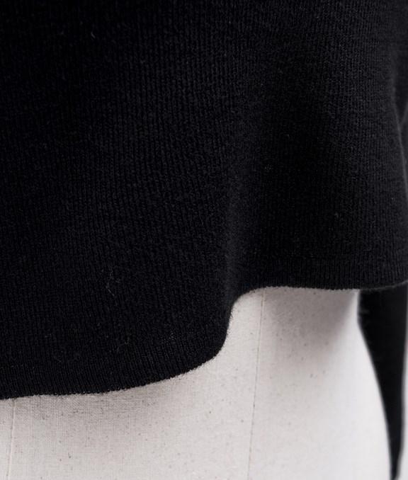 合身短版七分袖針織上衣
